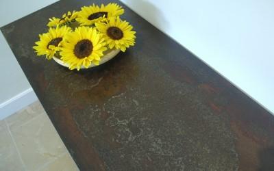 Blad dressoir: geroest staal