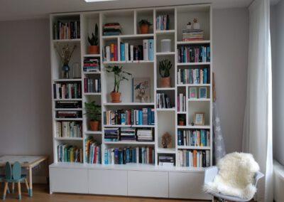 Diks Design, meubelmaker, design meubelen, wandmeubel, boekenkast