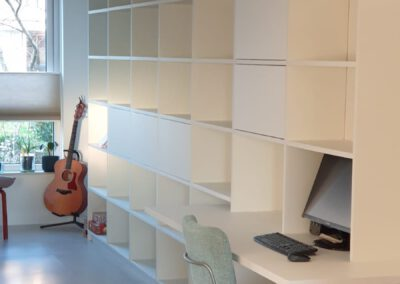 Diks Design, meubelmaker, design meubelen, boekenkast, boekenbureaukast, werkplek, thuiswerken, bureau