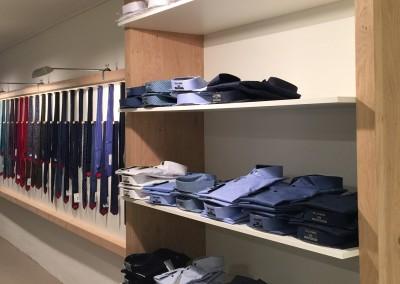 Inrichting Brockshirts, overhemden specialist (Grote Overstraat 56, Deventer), ontwerp: Frits Hoogers, Opdracht van Amaranthos