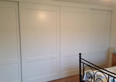 Complete kastenwand, materiaal: zijdeglans gespoten MDF