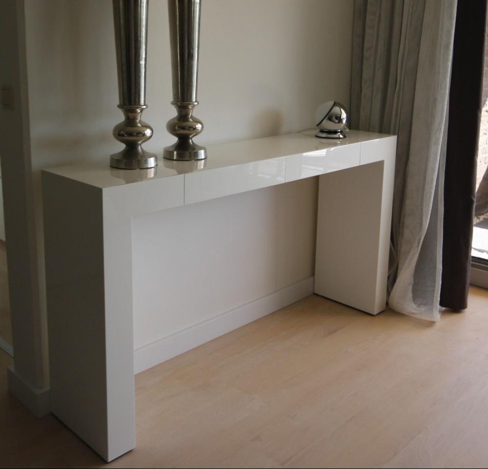 Witte Hoogglans Sidetable.Sidetable Hoogglans Wit Gespoten Diks Design