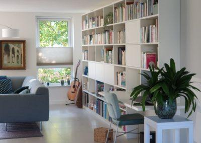 Diks Design, meubelmaker, design meubelen, scheidingswand, wandmeubel, boekenkast, boekenbureaukast,op maat