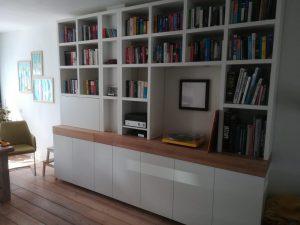 Diks Design, meubelmaker, design meubelen, boekenkast, thuiswerken